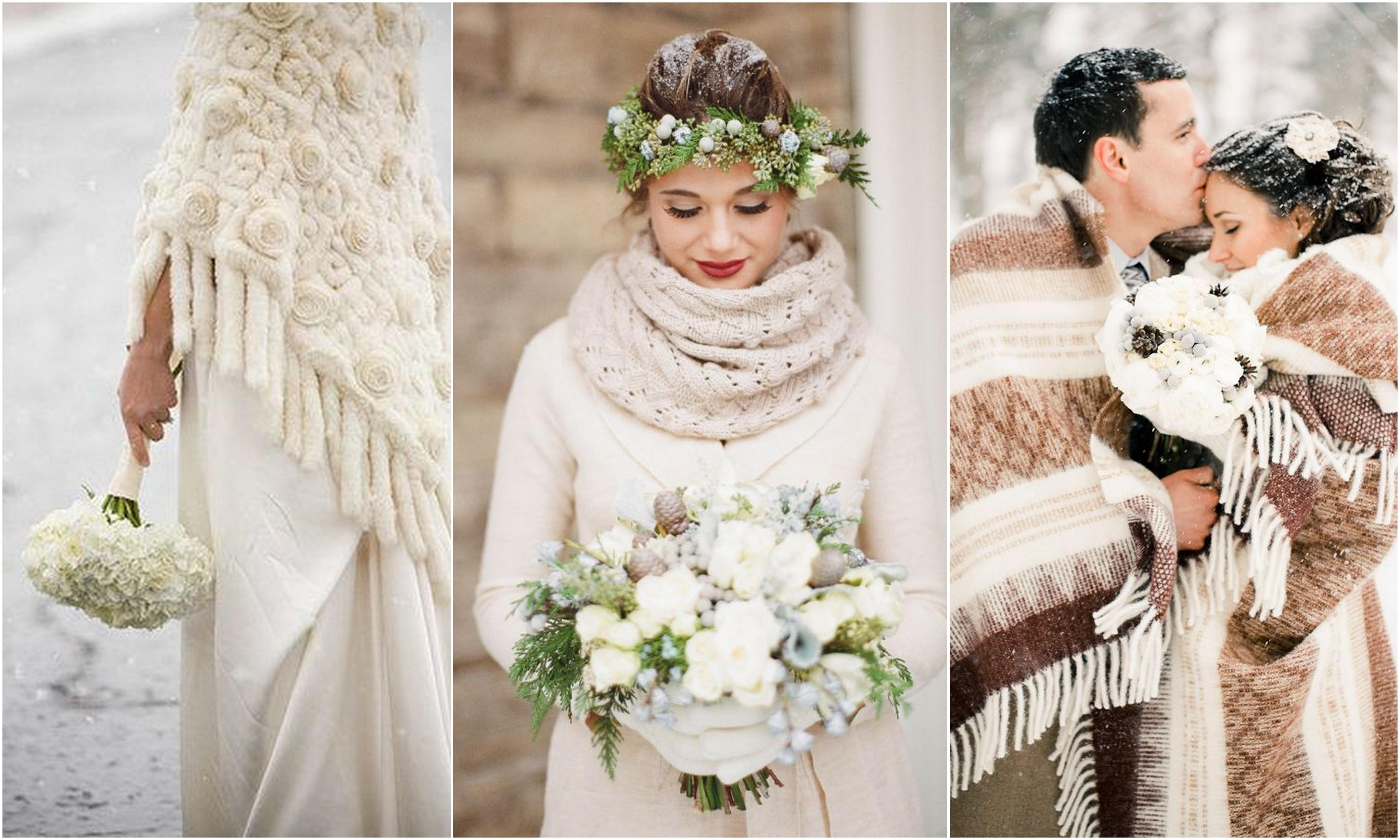 Вязанные детали на свадьбу, свадебные аксессуары, зимняя свадьба.