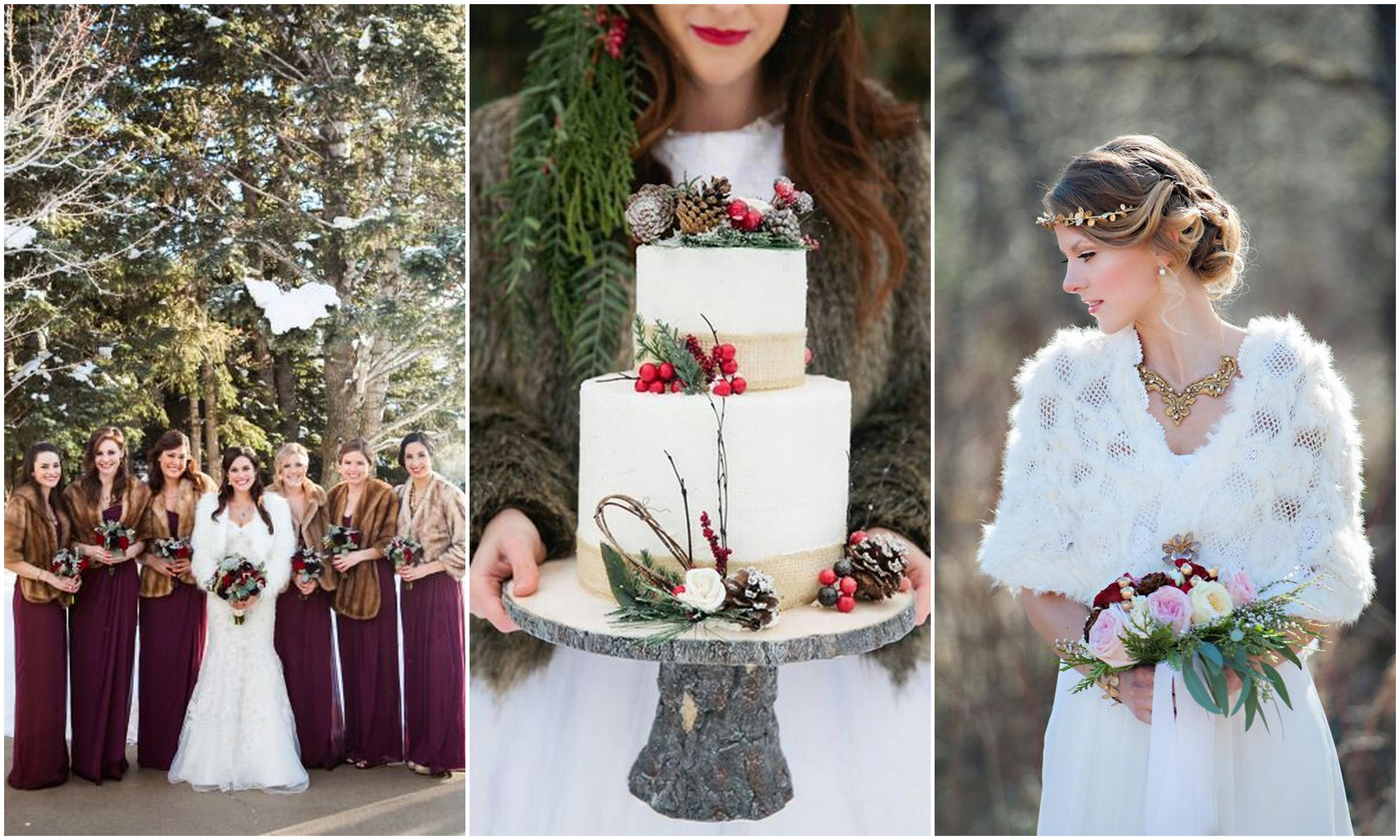 Зимние фото свадеб, свадебная шуба