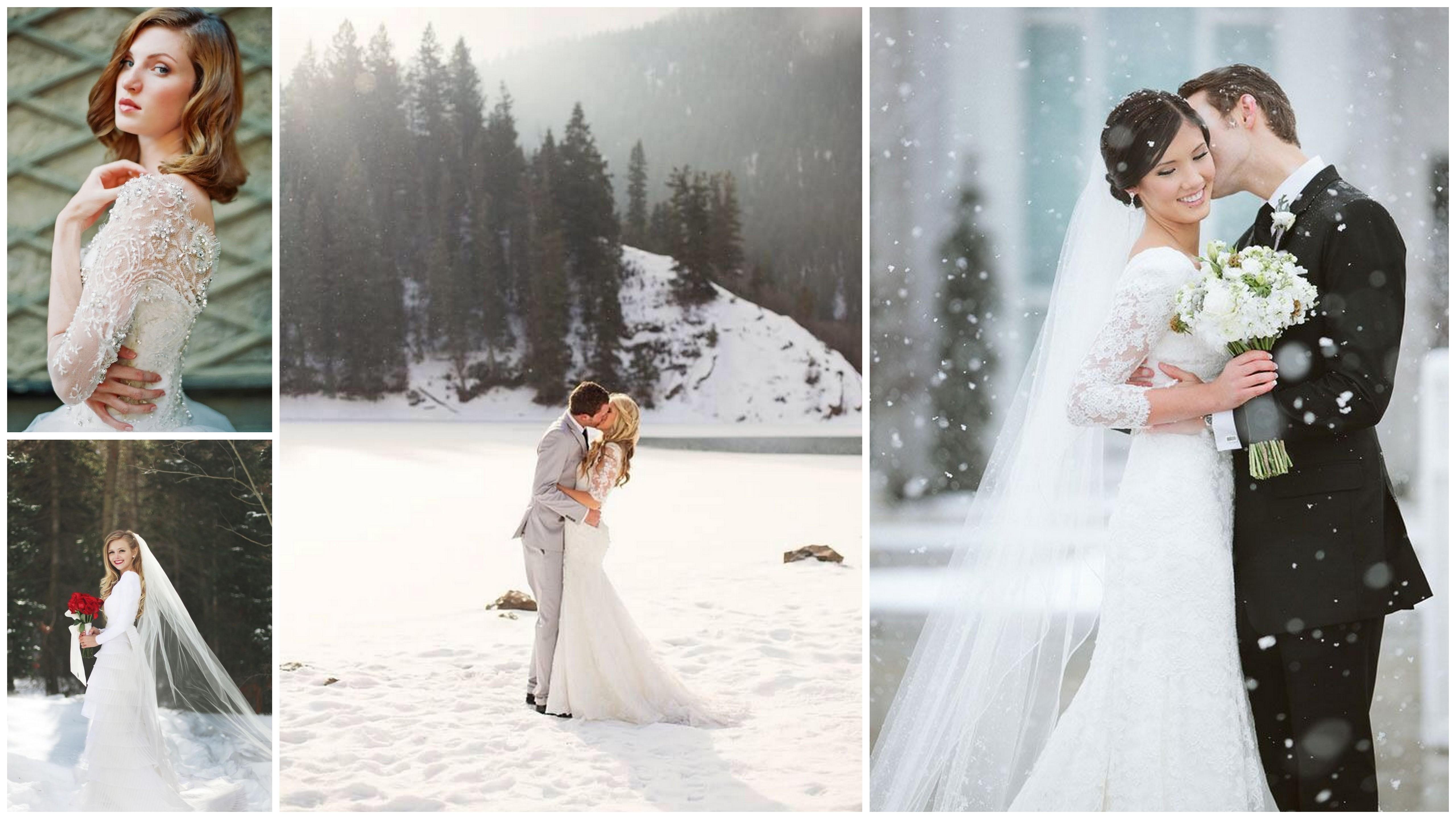Зимний образ невесты, свадьба зимой, Свадебные фотографии зима