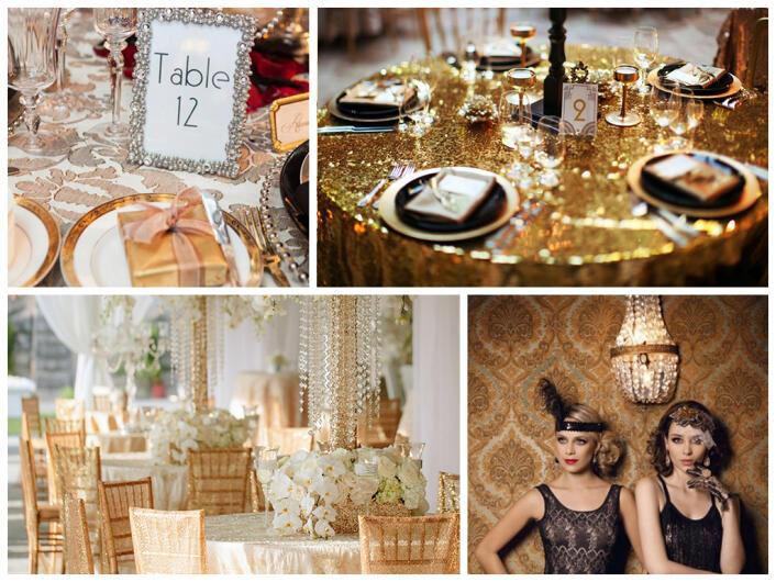 Оформление Гэтсби свадьбы: идеи и фото