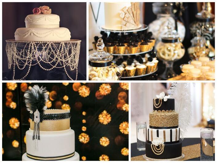 Свадебный торт в стиле Гэтсби вечеринки