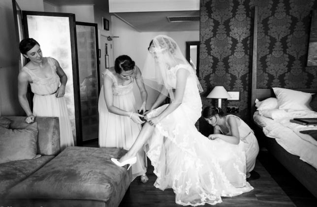 Свадебная фотосессия в стиле монохром.