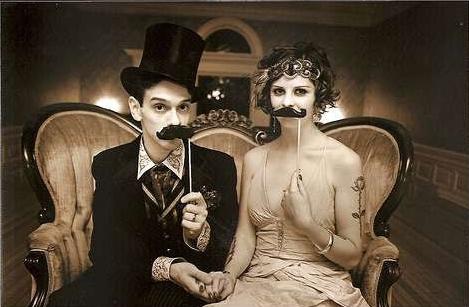 Иллюстрация свадебного тренда 2014. Любовь в стиле ретро.