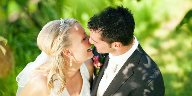 Фотографии свадебных поцелуев