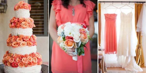 Свадебный декор. Свадьба в стиле изысканного коралла.