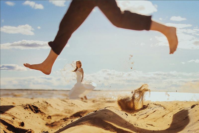свадебные фото идеи летом