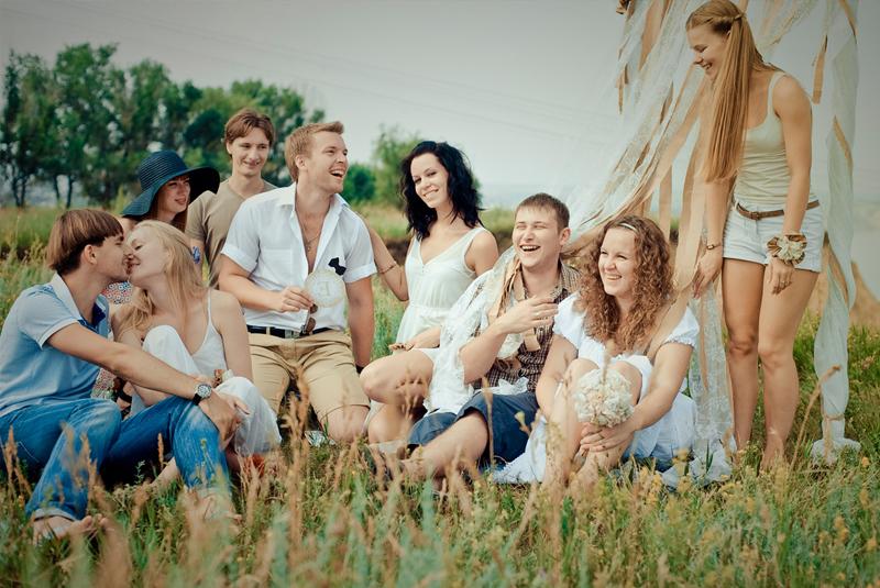 свадебная фотосъемка летом в поле