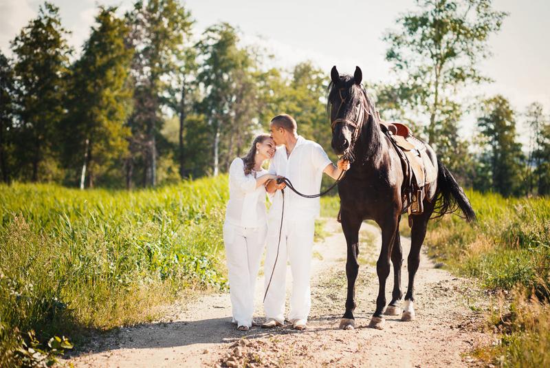 свадебные фото идеи - с лошадьми