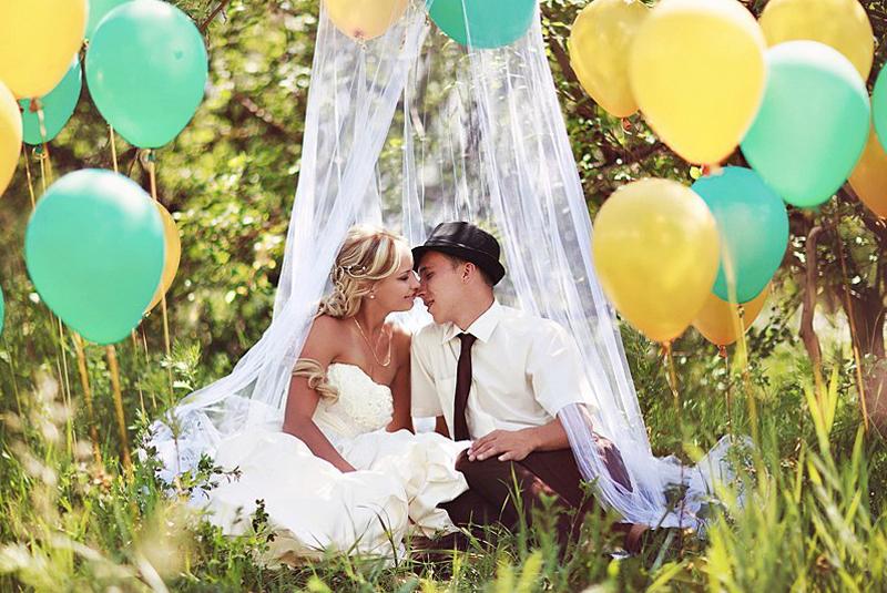 Оригинальные идеи для свадебной фотосессии летом