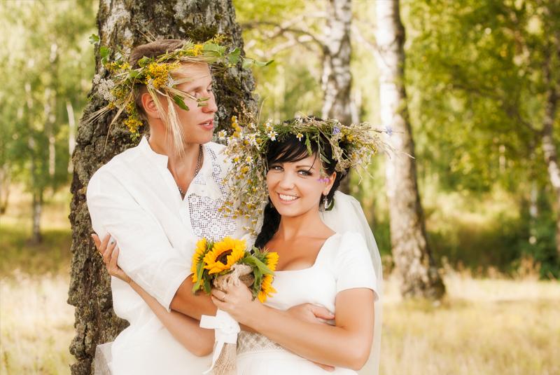 венки на свадьбу, идеи для фото