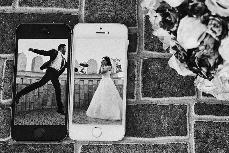 идеи для свадебной фотосессии летом : телефоны