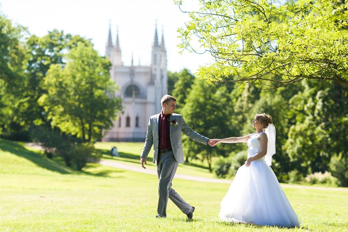 Свадебная фотосессия петергоф
