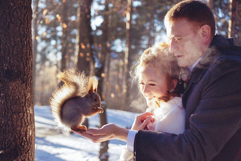 как отметить свадьбу зимой