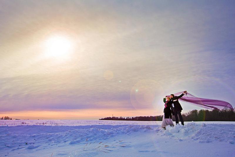 русская свадьба зимой фото