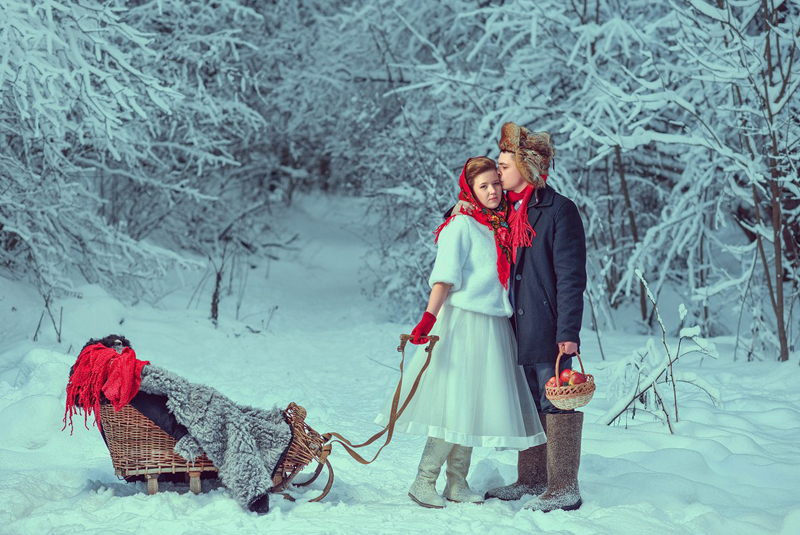 свадьба зимой приметы
