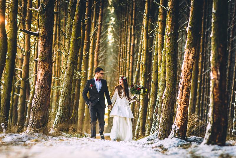 свадьба зима декор