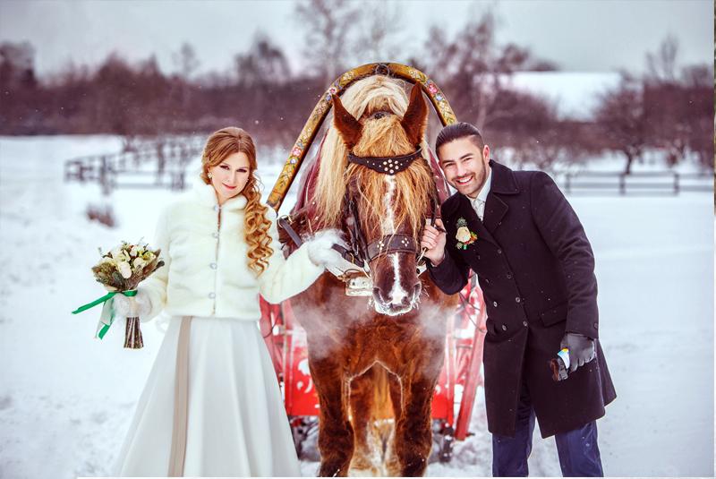 оформление свадьбы зимой фото