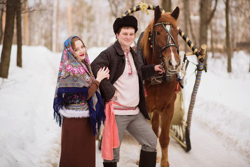 бирюзовая свадьба зимой