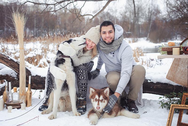 выездная свадьба зимой