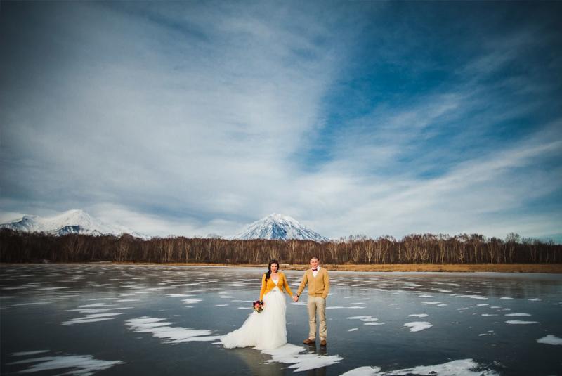 свадьба зимой без снега
