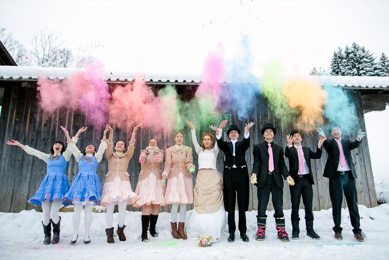 свадьба зимой гости