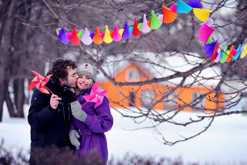 красивые свадьбы зимой