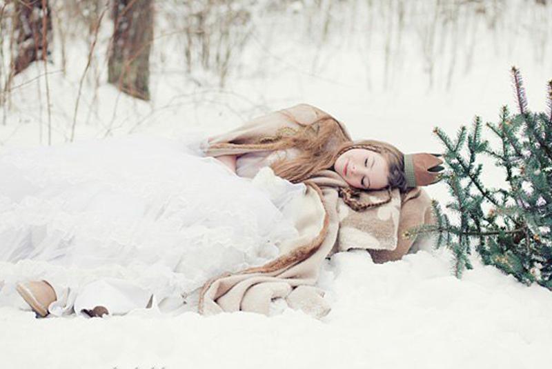 тематическая свадьба зимой