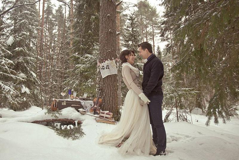 как одеться на свадьбу зимой