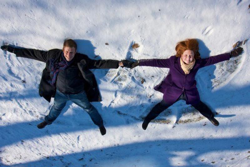 свадьба в стиле рустик зимой