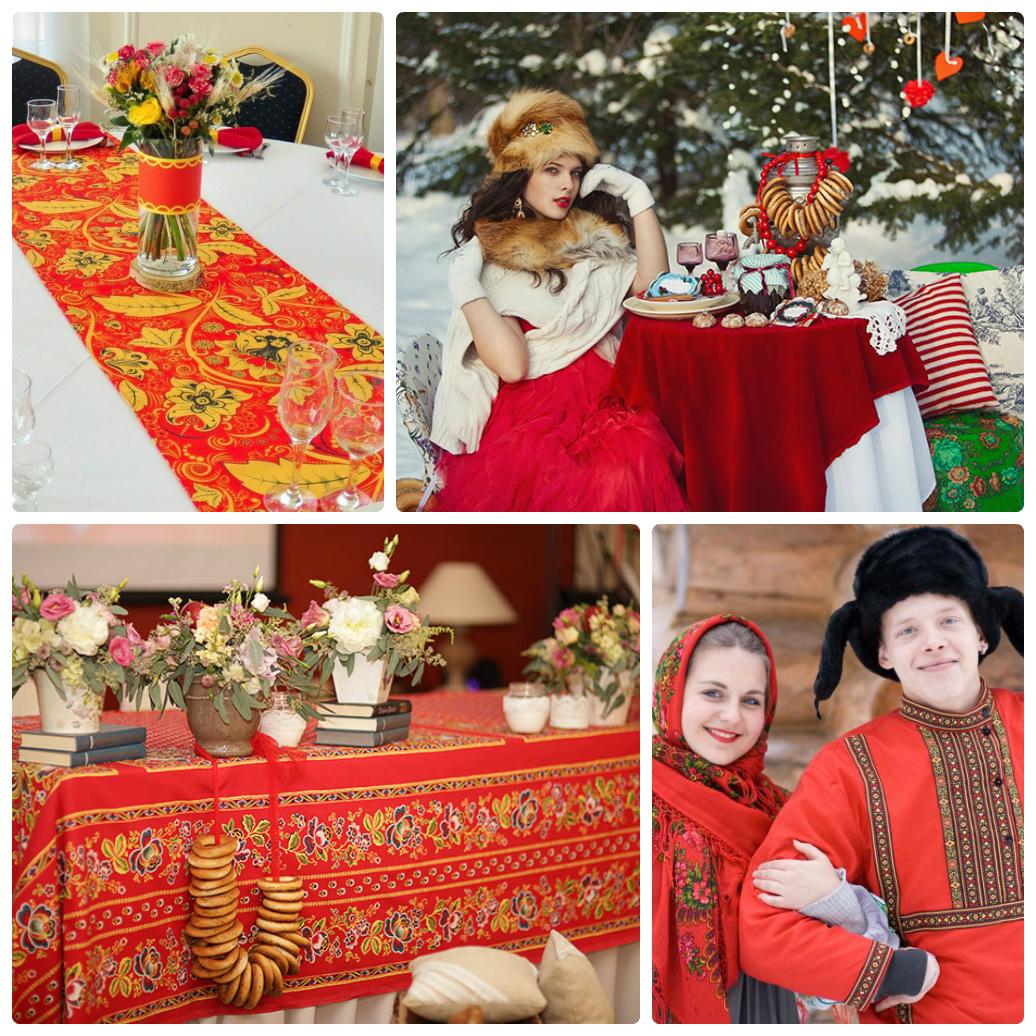 Свадьба в русском стиле фото