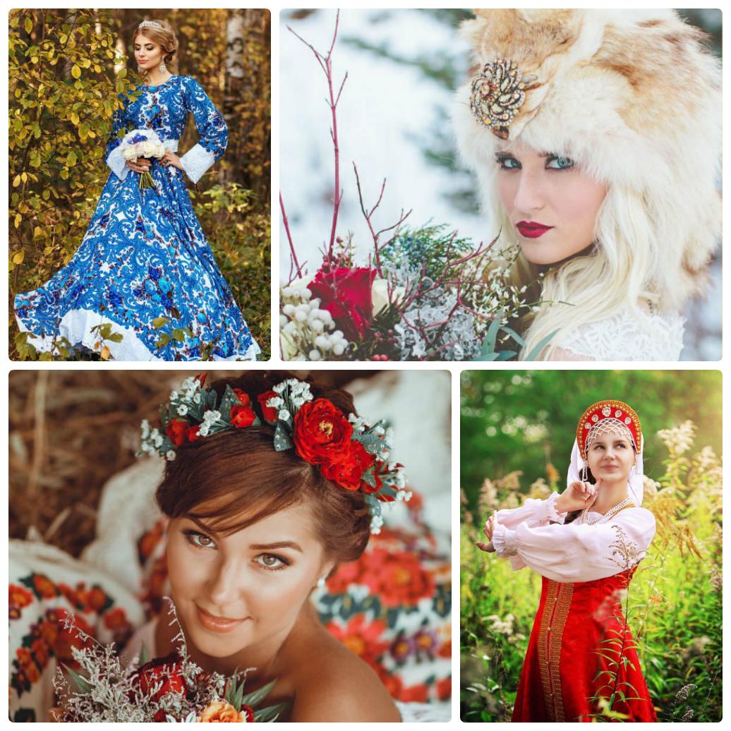 Свадьба в русском народном стиле фото