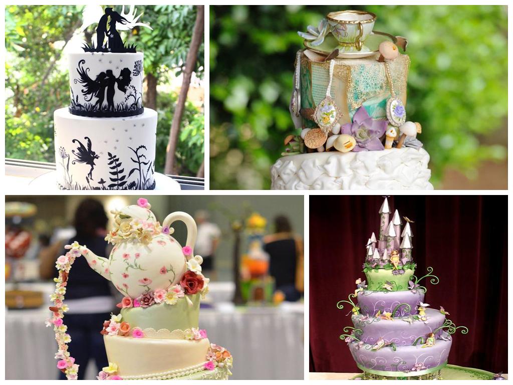 Свадебный торт в сказочном стиле