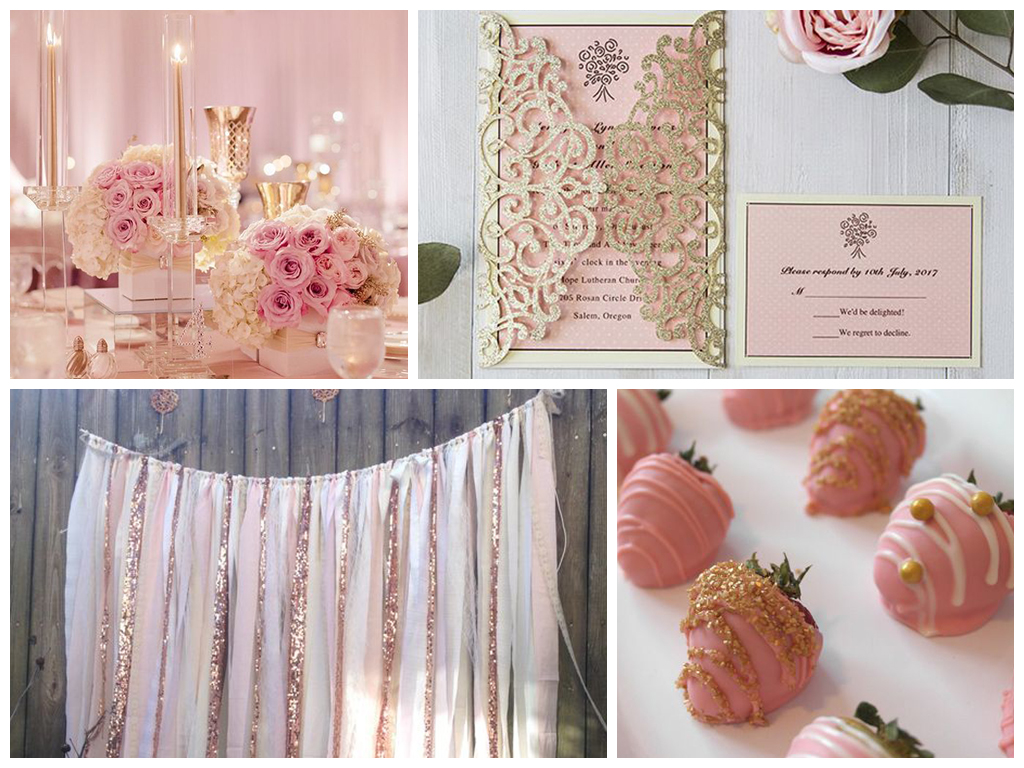 Розово-золотая свадьба