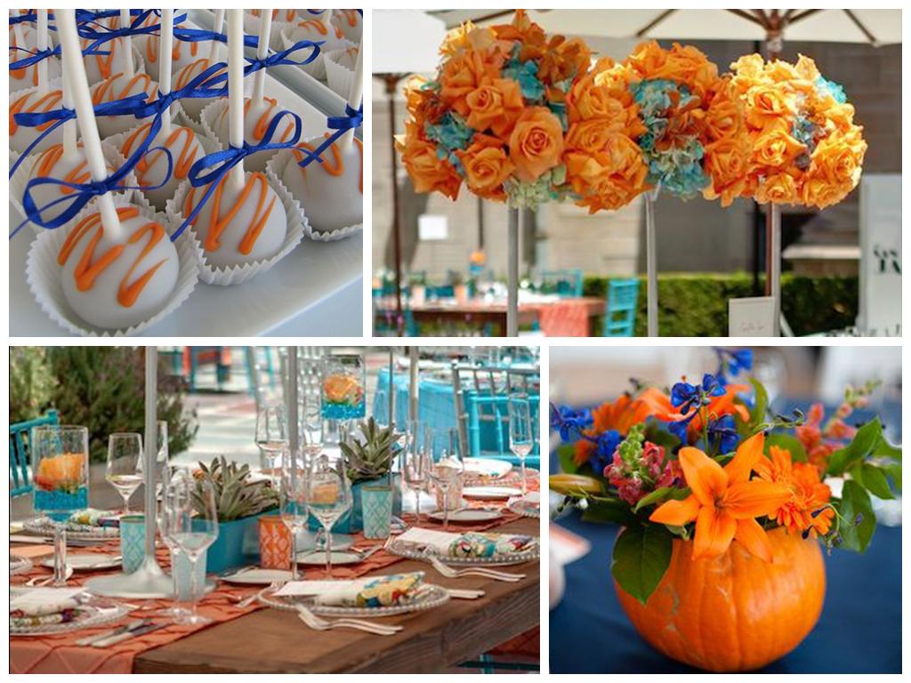 Свадьба лазурь с апельсином