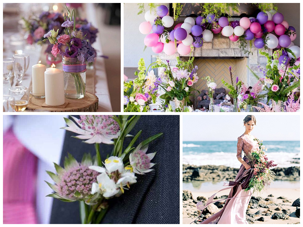 Сиренево-розовая свадьба