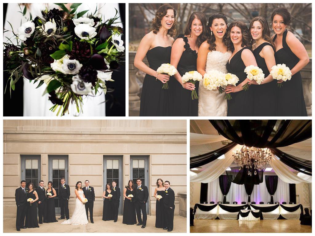 Свадьба в черно-белом цвете