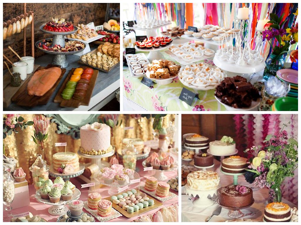 Как оформить десертную зону на свадьбе
