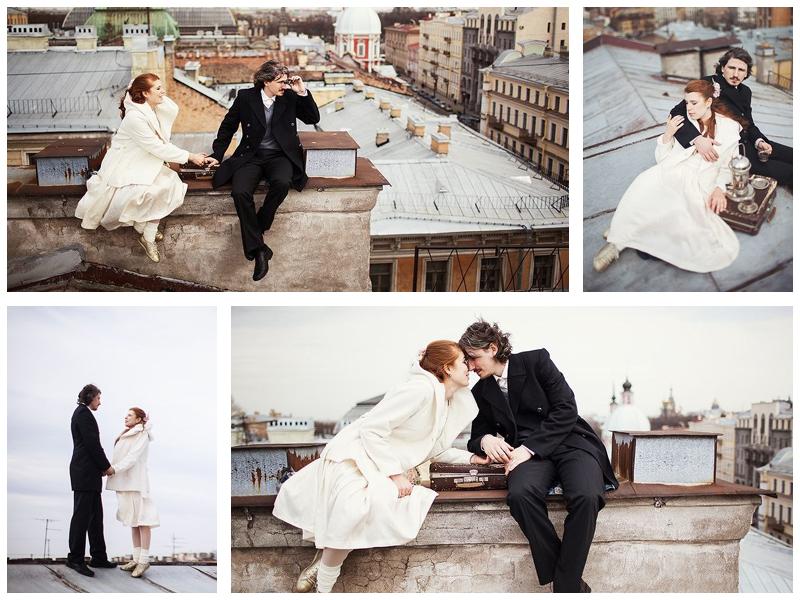 Свадебная фотосессия на крышах Петербурга