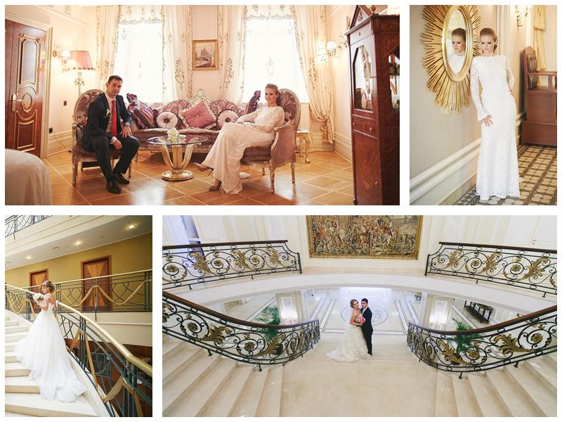 Свадебная фотосессия в отелях Санкт-Петербурга