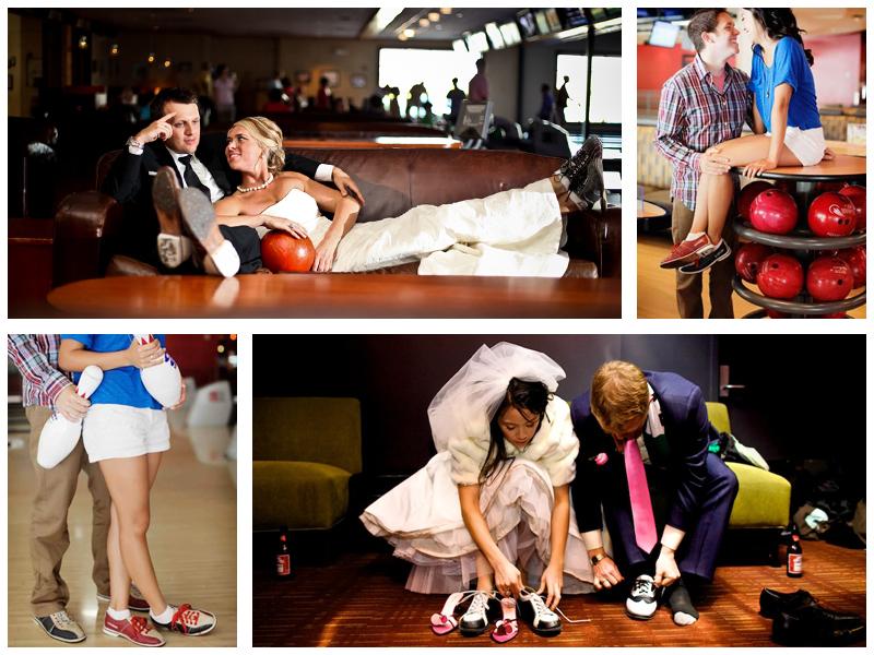 Свадебная фотосессия в боулинге