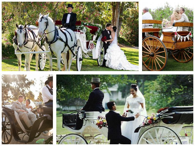 Свадебная фотосессия с каретой