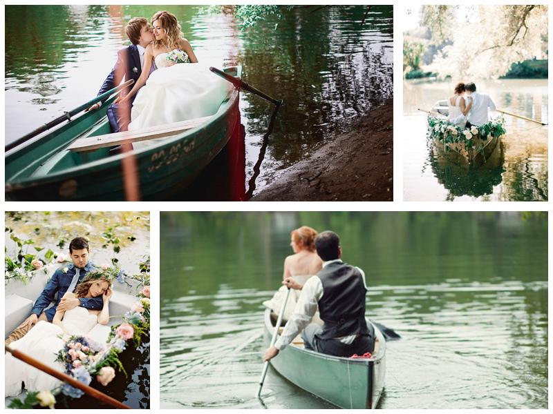 Свадебная фотосессия на лодке