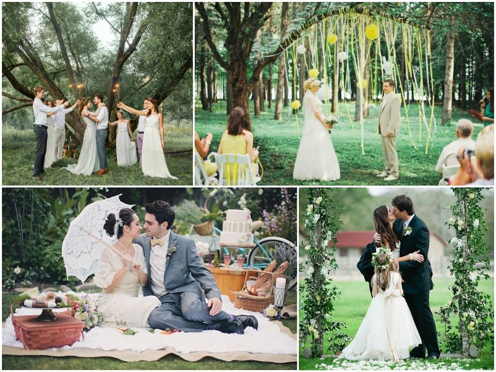 маленькая свадьба на природе