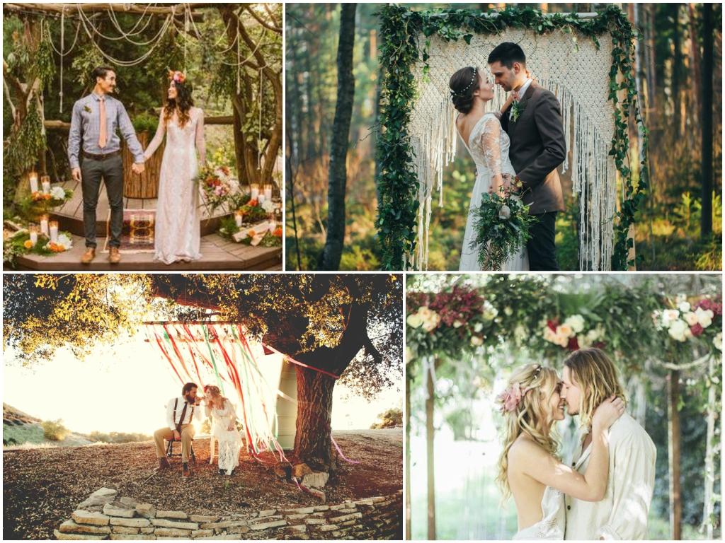 свадьба на природе в стиле бохо