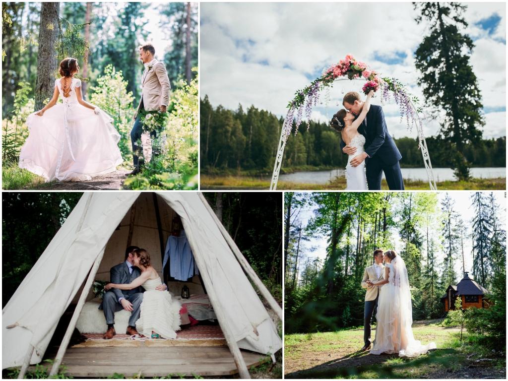 свадьба на природе на турбазе