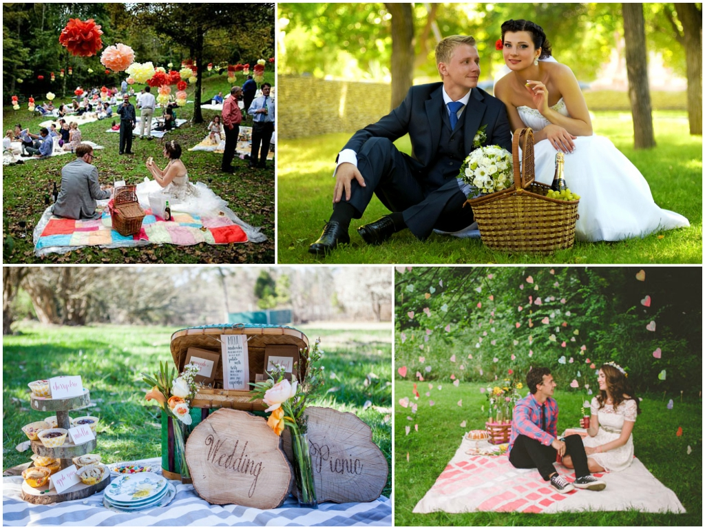свадьба на природе в стиле Пикник