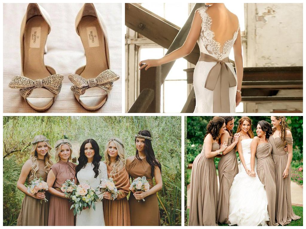 кофейная свадьба платье невесты