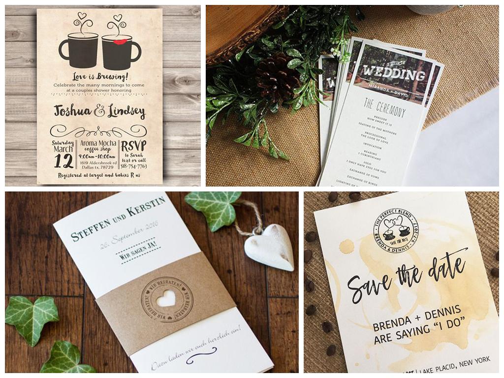 кофейная свадьба пригласительные