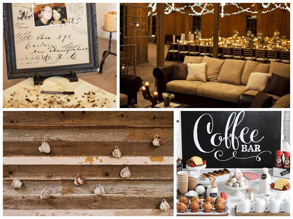 кофейная свадьба декор банкетного зала