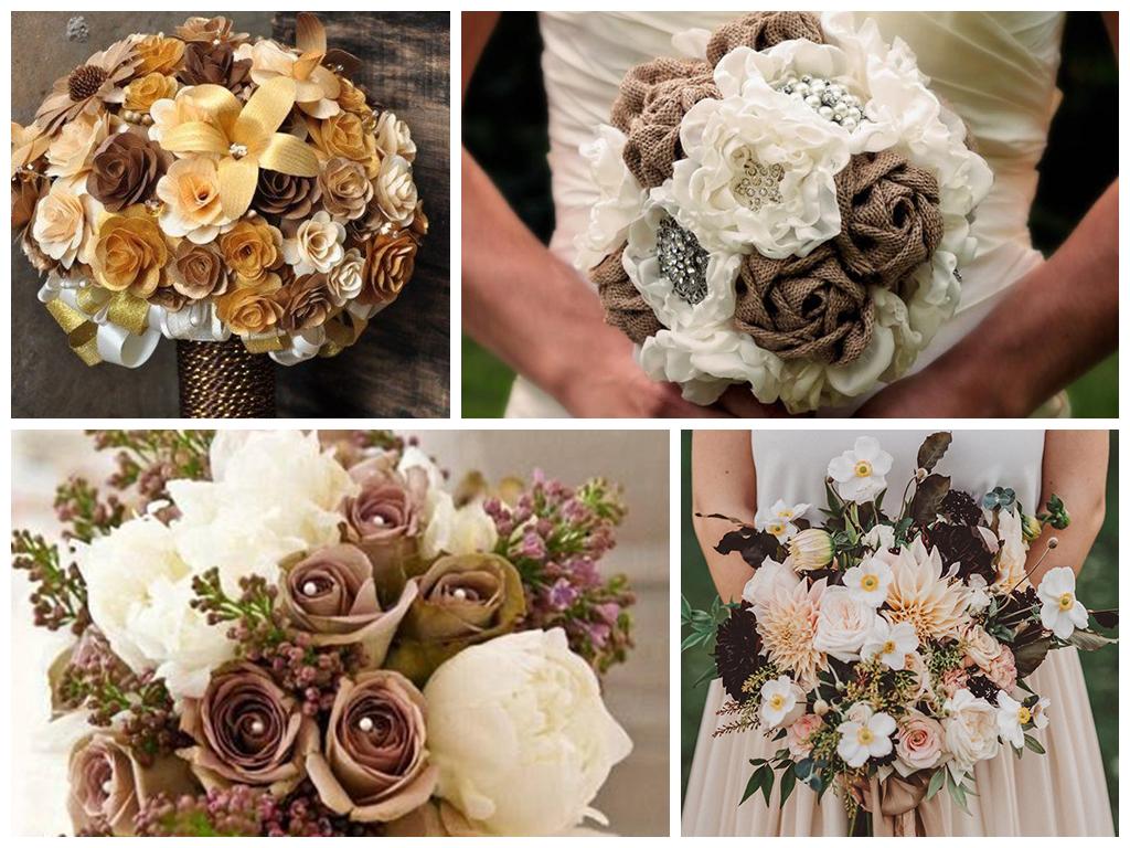 кофейная свадьба букет невесты